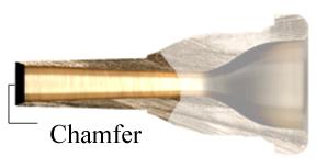 trombone backbore chamfer